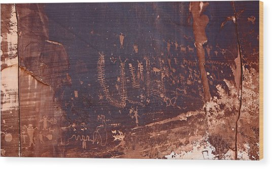 Utah Rock Art Wood Print