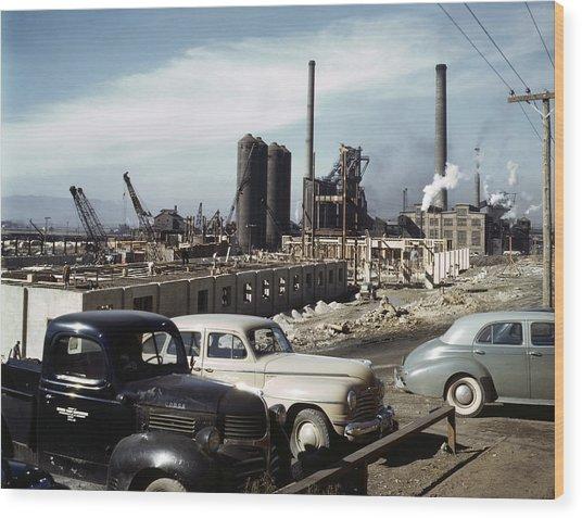 Utah Steel Mill, 1942 Wood Print by Granger