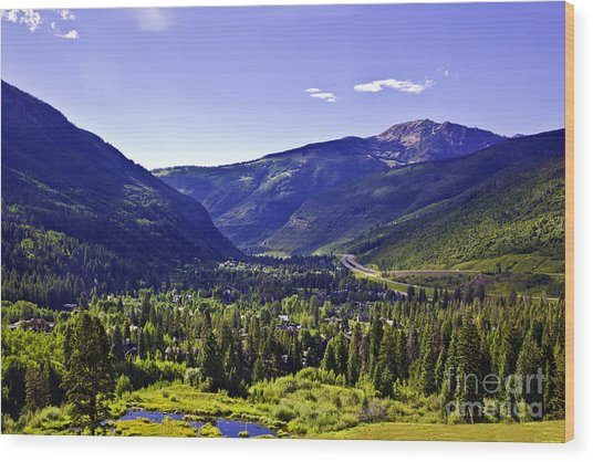 Vail Valley View Wood Print
