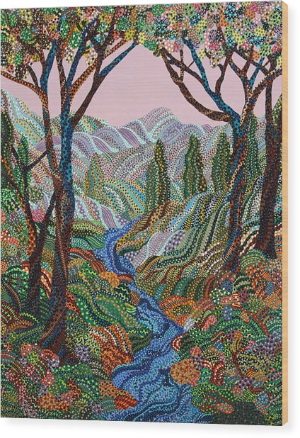 Valley Wood Print