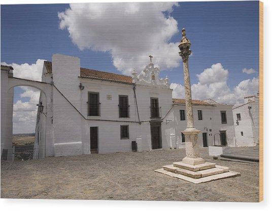 Village Of Monsaraz Portugal Wood Print by Jim  Wallace