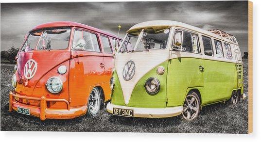 Vw Campervans Wood Print