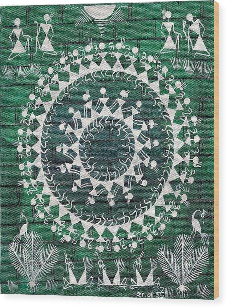 Tribal Dance Wood Print