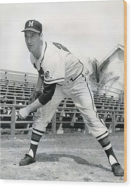 Warren Spahn Wood Print by Retro Images Archive