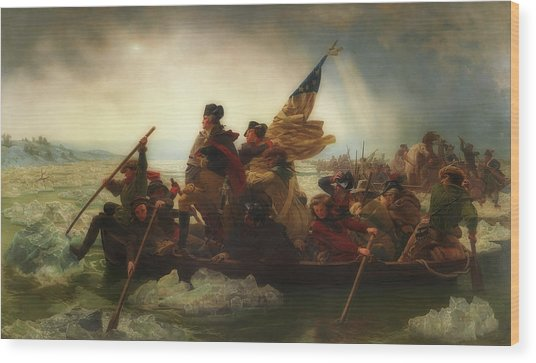Washington Crossing The Delaware  Wood Print
