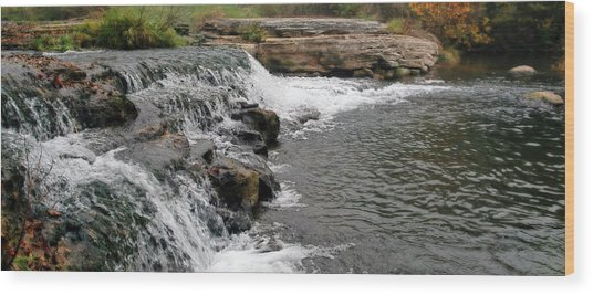 Spring Creek Waterfall Wood Print
