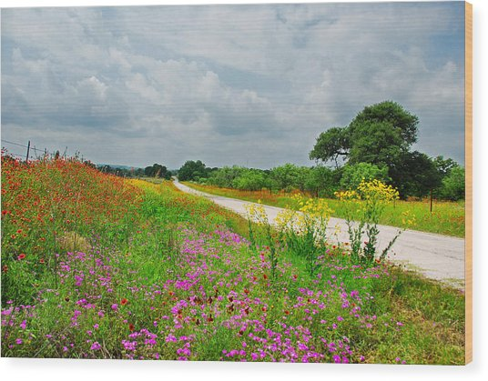 Wildflower Wonderland Wood Print