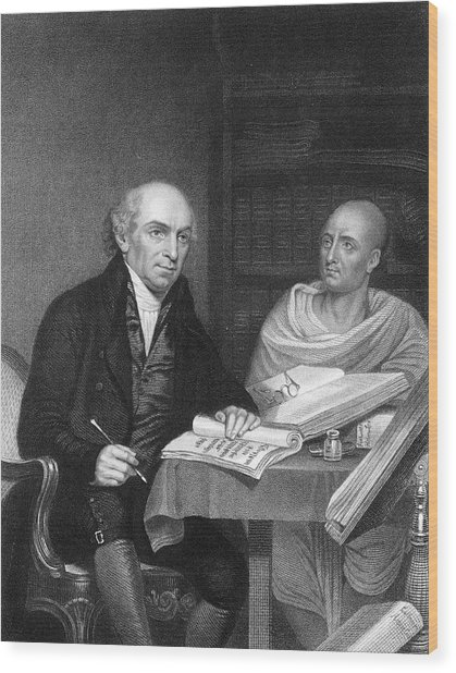 William Carey -  English Orientalist Wood Print by Mary Evans Picture Library