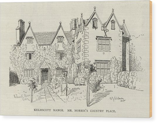 William Morris  English Writer's Home Wood Print by Mary Evans Picture Library
