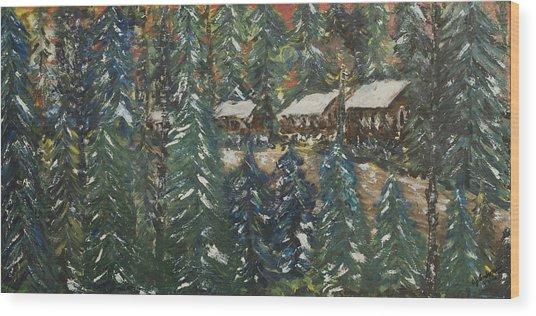 Winter Has Come To Door County. Wood Print