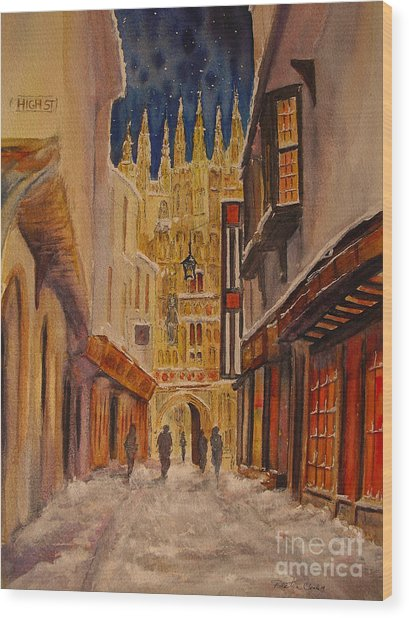 Winter In Canterbury Wood Print