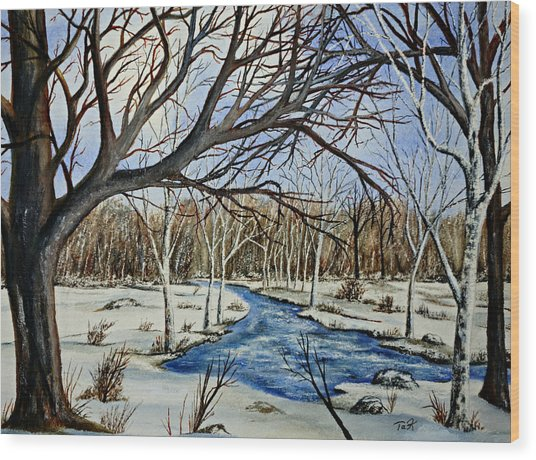 Wonderful Winter Wood Print