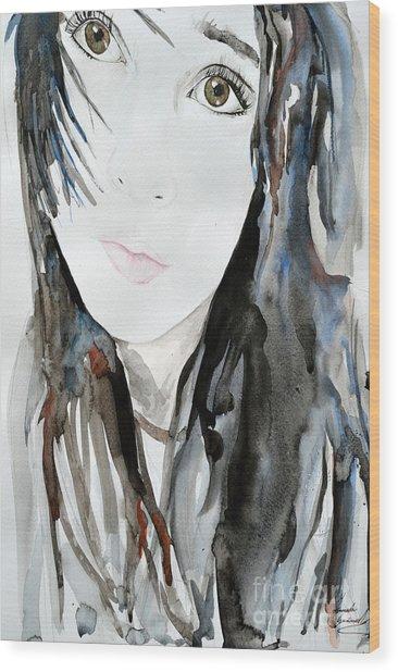 Young Girl Wood Print