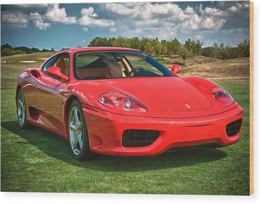 2001 Ferrari 360 Modena Wood Print