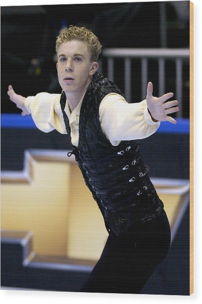 2004 State Farm U. S. Figure Skating Championships - Men's Short Program Wood Print by Al Messerschmidt
