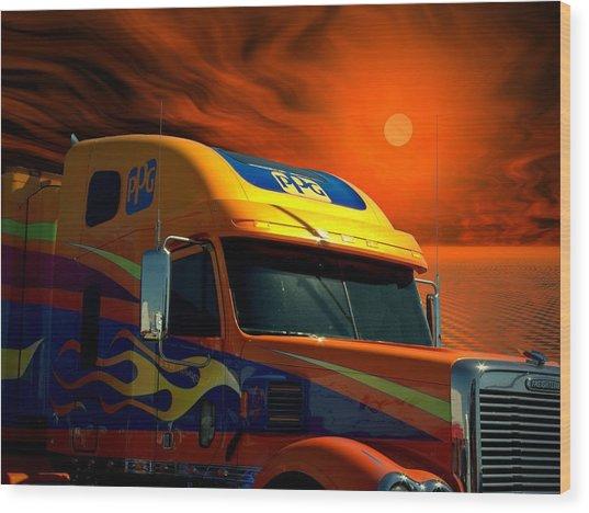 2008 Freightliner Coronado Ppg Semi Truck Wood Print