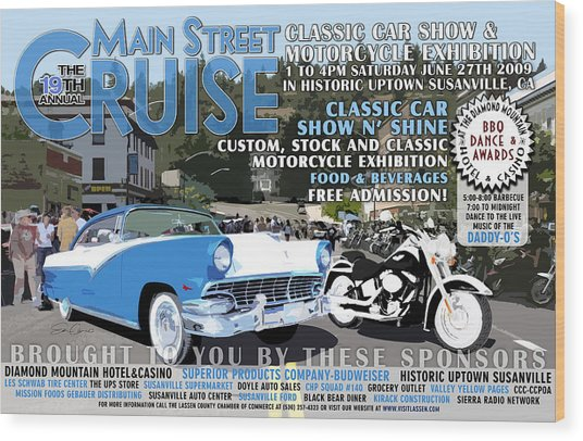 2009 Main Cruise Poster Wood Print by The Couso Collection