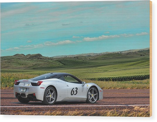 2010 Ferrari Wood Print