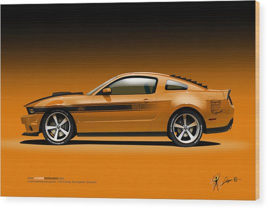 2011 Ford Twister Mustang Wood Print