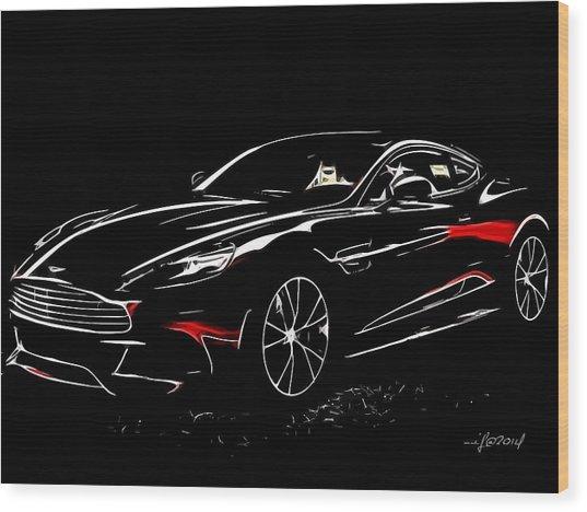 2013 Aston Martin Vanquish Wood Print