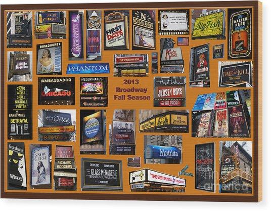 2013 Broadway Fall Collage Wood Print