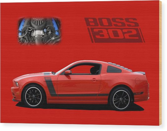 2013 Mustang Boss 302 Wood Print