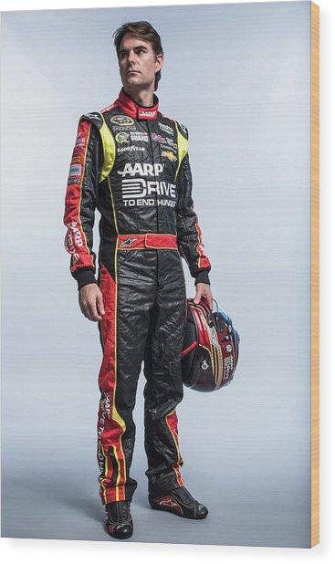 2013 Nascar Sprint Cup Series Stylized Wood Print by Nick Laham