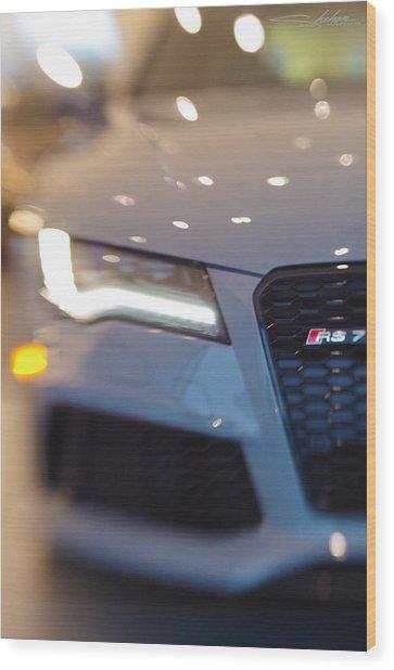 2014 Audi Rs7 Nardo Grey Wood Print