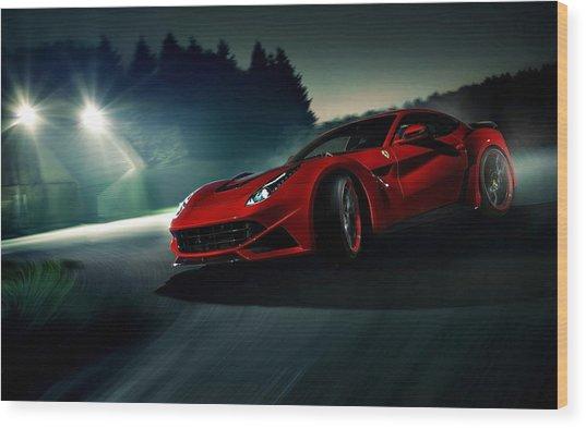 2014 Novitec Rosso Ferrari F12 Berlinetta N Largo Wood Print