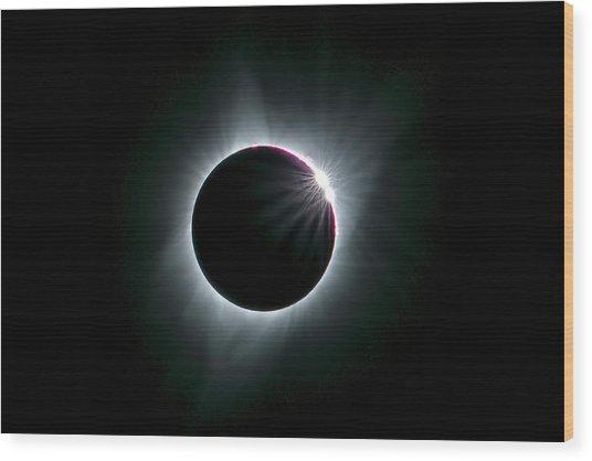 2017 Total Solar Eclipse Wood Print by Hua Zhu