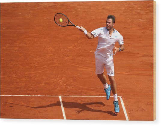 2018 French Open - Day Two Wood Print by Cameron Spencer