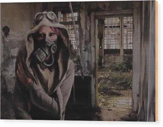 2050 Post Apocalyptic Scene Wood Print