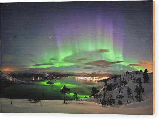 Aurora Borealis Wood Print by Tommy Eliassen