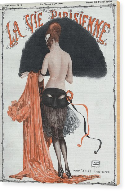 La Vie Parisienne  1920 1920s France Wood Print