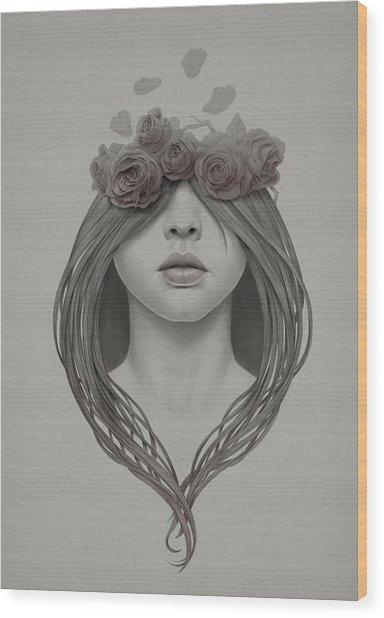 214 Wood Print by Diego Fernandez