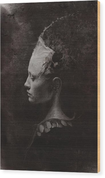 Secret Wood Print by Victor Slepushkin