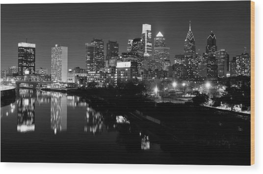 23 Th Street Bridge Philadelphia Wood Print