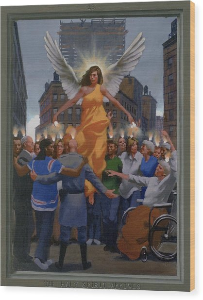 23. The Holy Spirit Arrives / From The Passion Of Christ - A Gay Vision Wood Print by Douglas Blanchard