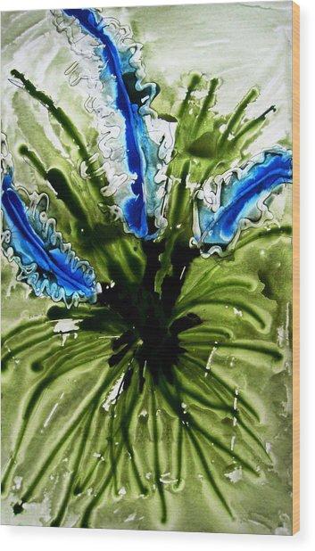 Heavenly Flowers Wood Print by Baljit Chadha