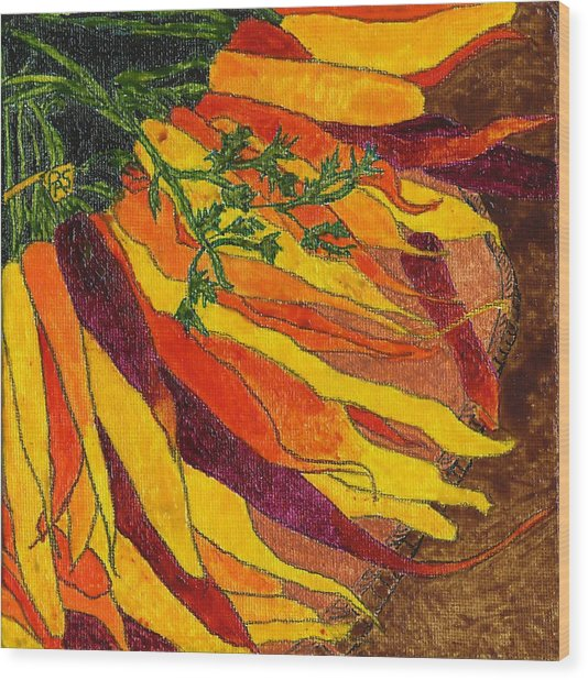 24 Carrots Gold Wood Print
