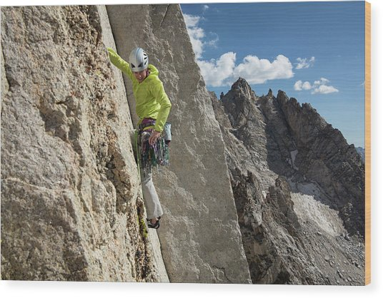 Rock Climbing Lifestyle Sierras Wood Print