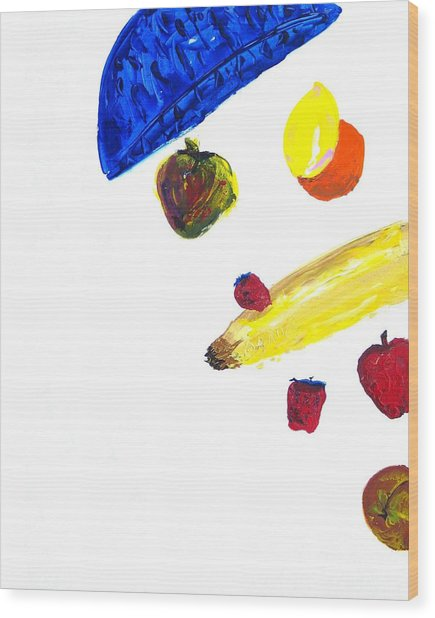 248 Spilled Life With Fruit Wood Print by Aaron Aadamson