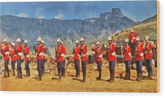 24th Regiment Of Foot - En Garde Wood Print