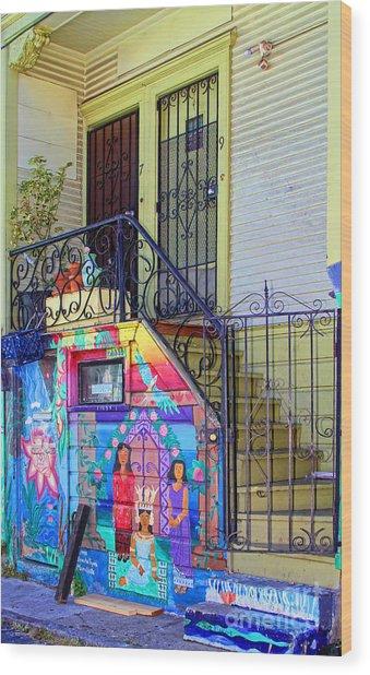 25 Balmy Alley San Francisco Wood Print