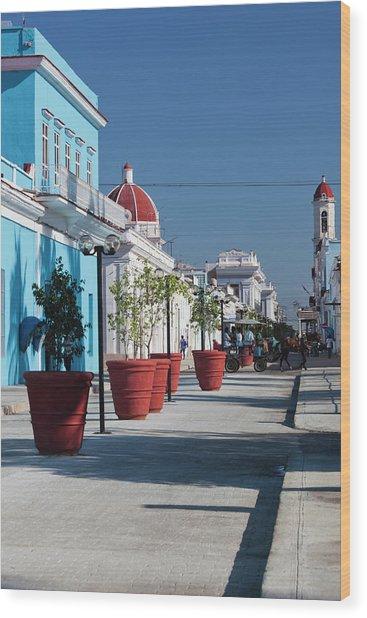 Cuba, Cienfuegos Province, Cienfuegos Wood Print by Walter Bibikow