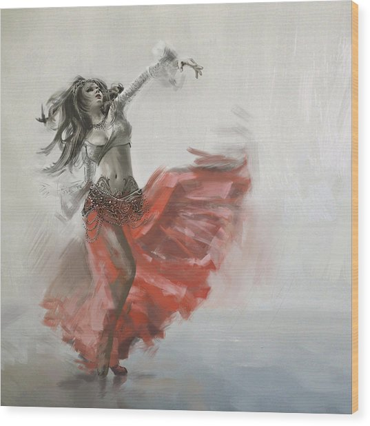 Belly Dancer 4 Wood Print
