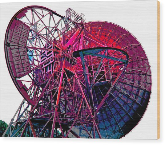 26 East Antenna Abstract 4 Wood Print