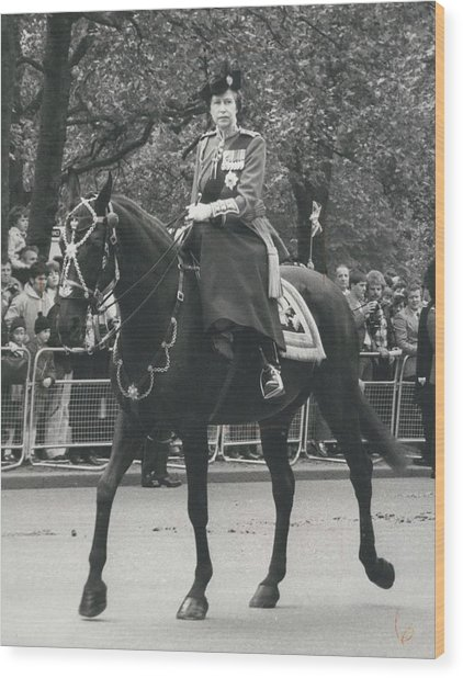 Trooping The Colour Ceremony Wood Print by Retro Images Archive