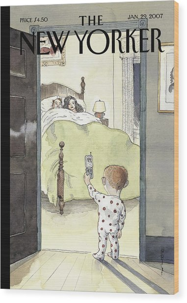 New Yorker January 29th, 2007 Wood Print by Barry Blitt
