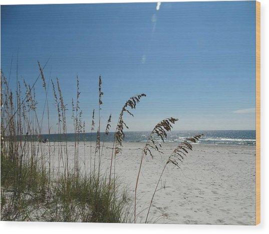 Beach Wood Print by William Watts